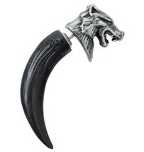 LAST CHANCE! Alchemy Gothic Fierce Wolf Macht Head Claw Single Post Earr... - $19.95