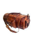 "Jaald 24"" Genuine Leather Men's Duffel bag Gym Sports Travel Weekend Duf... - $64.35"