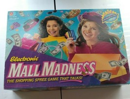 Vintage Electronic Mall Madness Board Game 90% Complete Works - $95.03