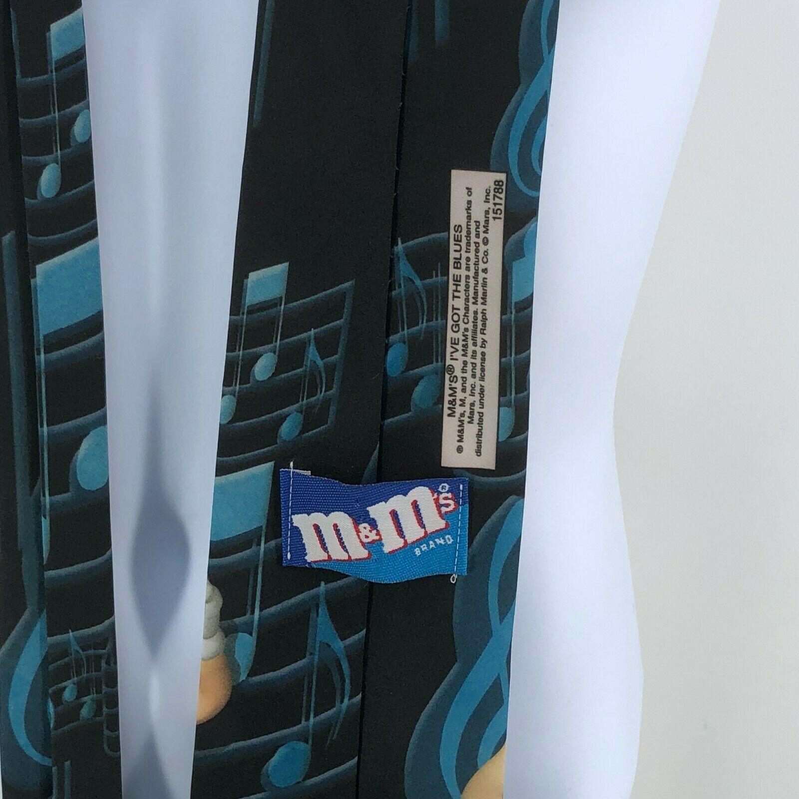 Vintage Whimsical M&Ms Candy I've Got The Blues Novelty Neck Tie USA Made  image 4