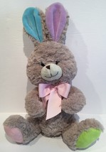 KELLYTOY EASTER BUNNY Plush STUFFED Animal Bunny RABBIT Ears PINK BLUE 1... - $15.55