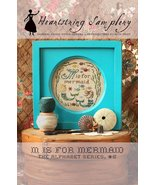 M is for Mermaid cross stitch chart Heartstring Samplery - $9.00