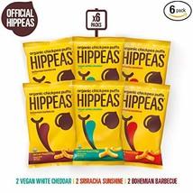 HIPPEAS Organic Chickpea Puffs + Variety Pack | 4 ounce, 6 count | Vegan, Gluten