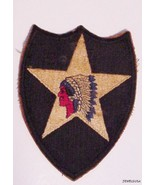 STAR PATCH COLLECTIBLE VINTAGE US ARMY 2ND INFA... - $38.61