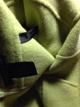 $895 DONNA KARAN collection label Chartruse Doublefaced cashmere skirt 4 - $101.40
