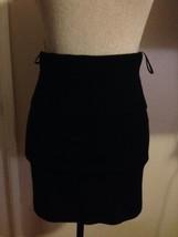 $895 DONNA KARAN collection label stretchy Black cashmere skirt S - $205.40