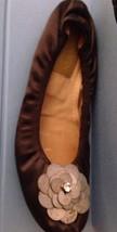 FASHIONISTA-FAVE LANVIN jeweled beaded sequin satin / leather Ballerina Flats 37 - $115.70