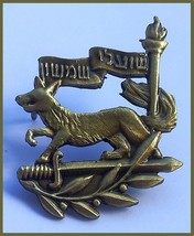 Israel army IDF Samson Foxes unit badge fox sword torch - $10.50