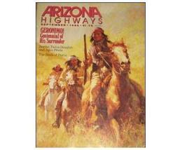 Arizona Highways GERONIMO Collectible Sept 1986 Magazine - $39.99