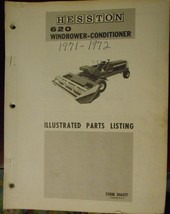 Hesston 620 Windrower-Condtioner Parts Manual - 1971-1972 - $20.00