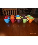 10 Mikasa multi colored  gourmet basic hot chocolate mugs cups  - $39.99