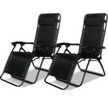 Caravan Canopy Black Zero-Gravity Chairs - Black ( 2 pack ) - $194.99