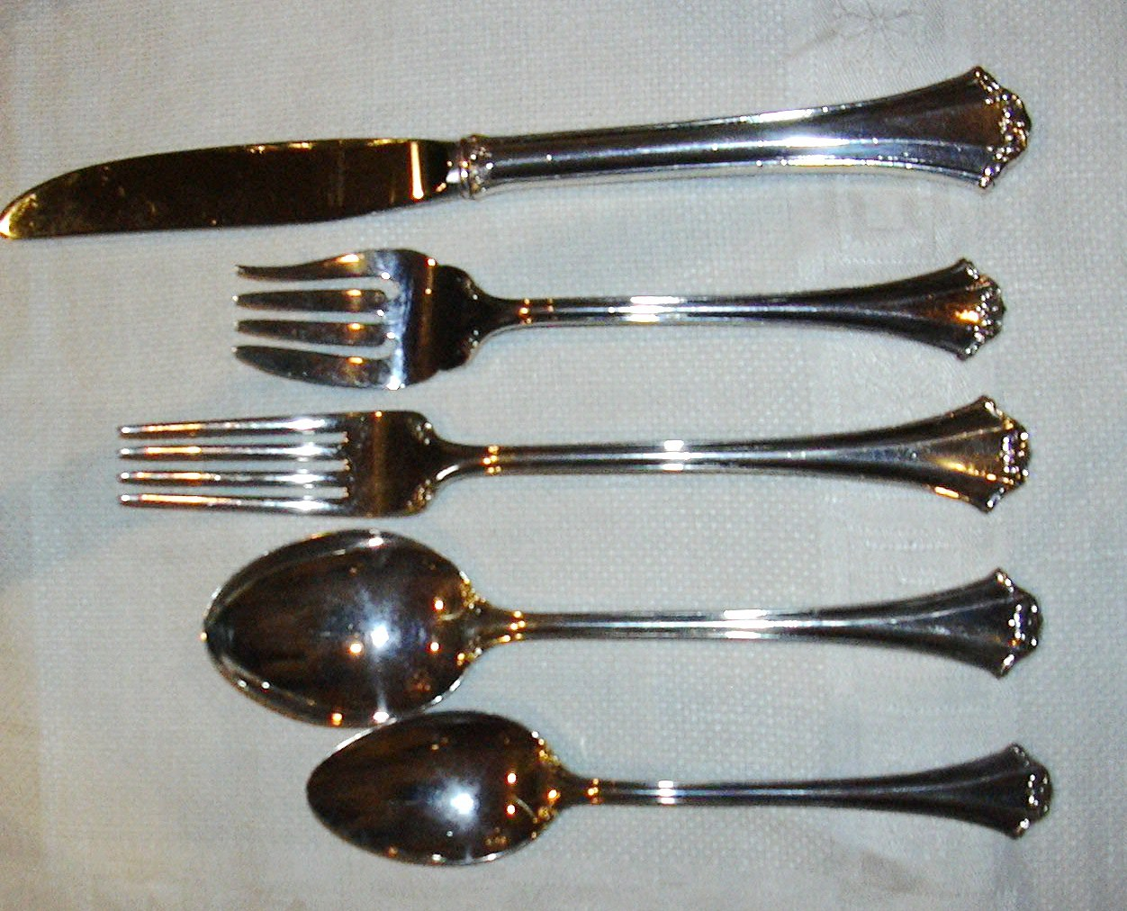 REED & BARTON CHIPPENDALE 5 PC PLACE SETTING