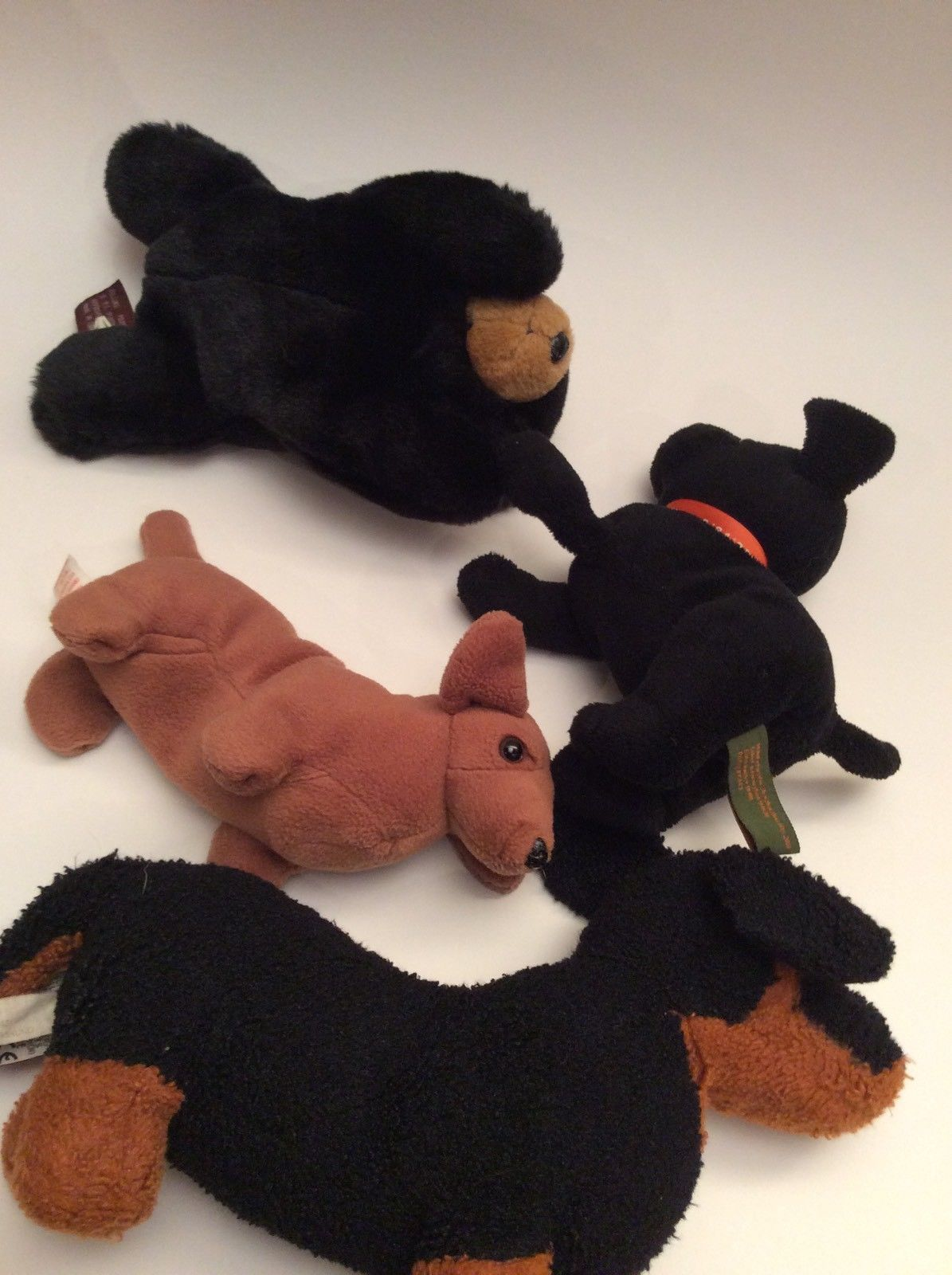 49af1bd8326 ... Lot Of 4 Ty Beanie Plush Stuffed Animal Dogs Bear Ganz Bearington Eddie  Bauer ...