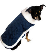 "XSmall Quilted Navy Blue Dog Coat fits 9""-11"" Dog - $9.00"