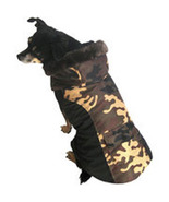 "XSmall Quilted Brown Camouflage Dog Coat fits 9""-11"" Dog - $9.00"