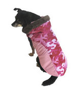 "XSmall Fall Winter Pink Camouflage Dog Coat fits 9""-11"" Dog - $9.00"