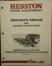 Hesston 2240 Field Cultivators Operator and Assembly Manual s/n -00551 a... - $13.00