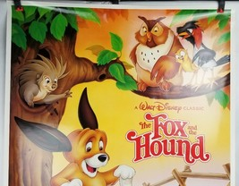 "The Fox & the Hound Walt Disney Movie Poster 40""x26"" 1981 Original Rolled Ship image 2"
