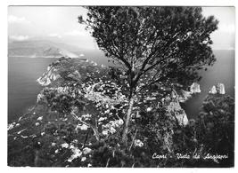 Italy Capri Island Vista Anacapri Birdseye View VERA Glossy Photo 4X6 Po... - $6.99
