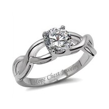 WOMEN'S STAINLESS STEEL 1.25 CARAT SOLITAIRE CZ ENGAGEMENT RING SIZE 6, 9 - $12.01
