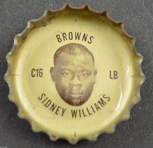 Vintage Coca Cola NFL Bottle Cap Cleveland Browns Sidney Williams Coke F... - $6.99