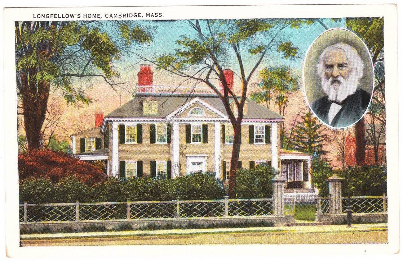 Old postcard longfellow home cambridge ma