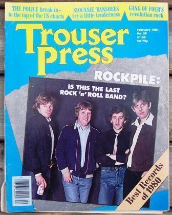 Trouser Press TP 59 The Police, Rockpile, Siouxsie