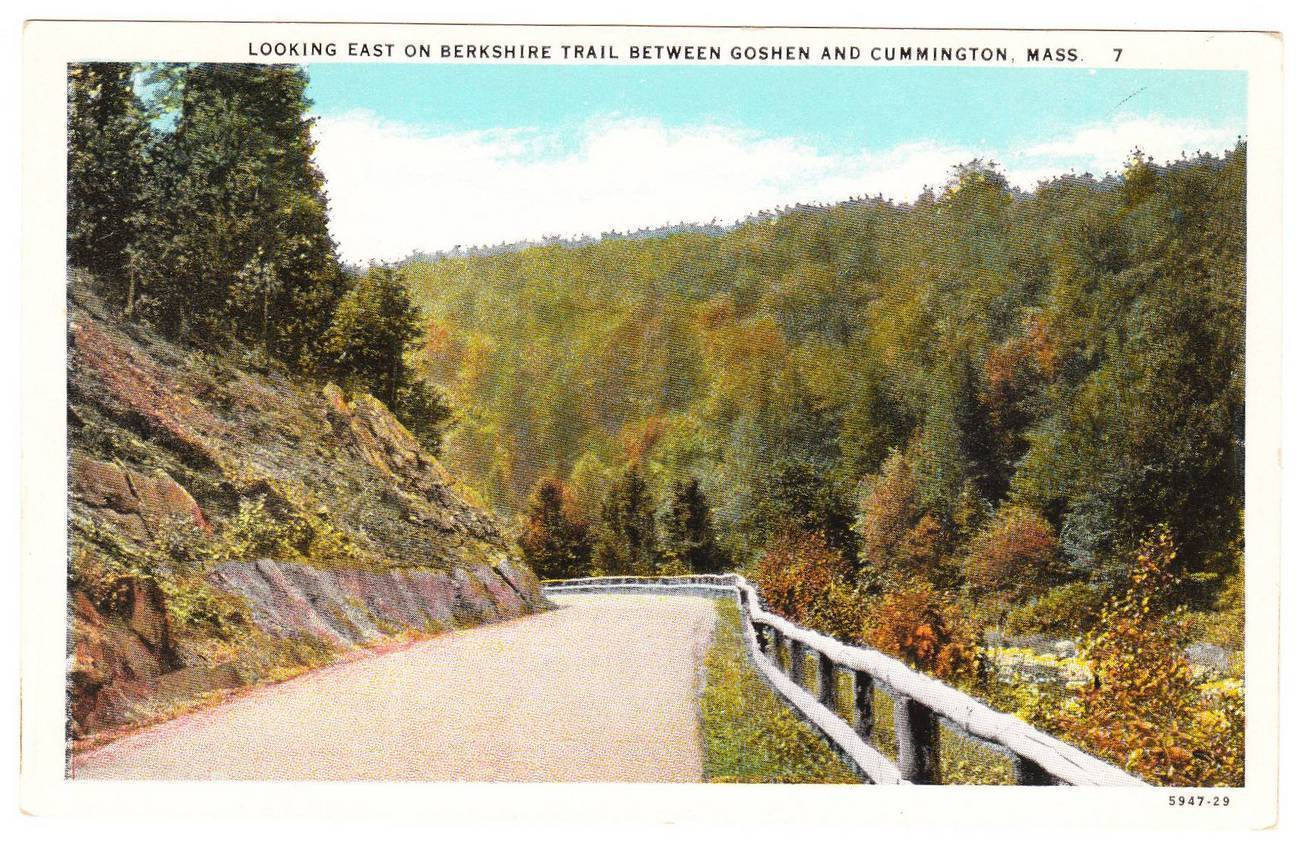 Old postcard berkshire trail goshen cummington ma