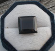 Smoky quartz princess loose gem 18mm - $9.99