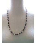 VTG Monet Silver Tone Thick Woven Chain Necklac... - $26.72