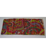 Scarf, Silk, Vintage Red & Green Paisley Design - $7.00