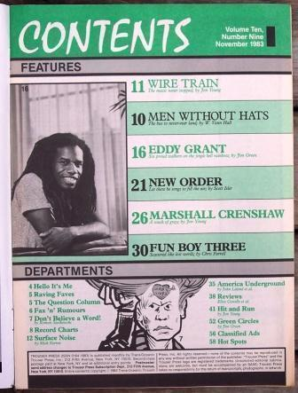 Trouser Press TP 91 Eddy Grant, New Order, Men Without Hats