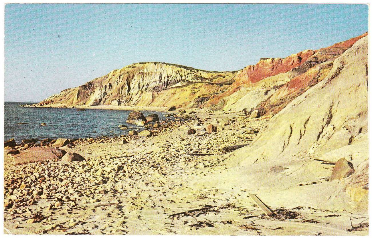 Vintage chrome postcard gay head cliffs ma