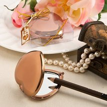 50 Bronze Metallic Heart Compact Mirror - $95.06