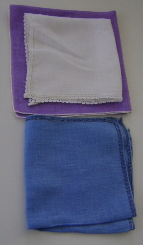 3 Vintage Ladies Hankies, Fancy
