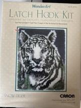 "NEW IN SEALED BOX-Caron Wonder Art New Snow Tiger Latch Hook Kit (20"" x ... - $14.85"