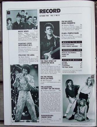 Record Magazine Vol 3 No 12 Michael Jackson cover