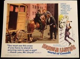 Harold Lloyd World of Comedy 1962 LOBBY CARD Safety Last 4 - $23.02