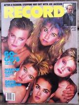 Record Magazine Vol 3 No 9 The Go-Go's cover - $6.99