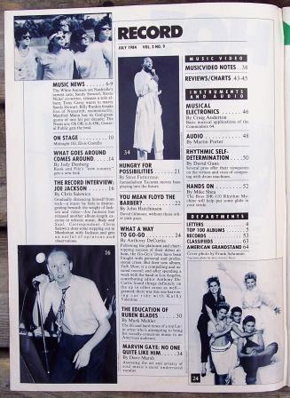Record Magazine Vol 3 No 9 The Go-Go's cover