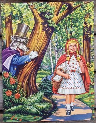 Little Red Riding Hood & The Big Bad Wolf print