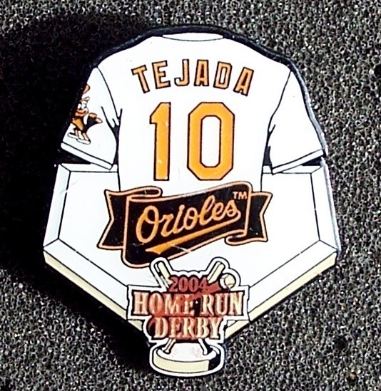 Miguel Tejada Baltimore Orioles 2004 Home Run Derby Lapel Pin