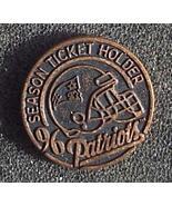 New England Patriots NFL 1996 Season Ticket Lapel Pin Collectible - $5.95