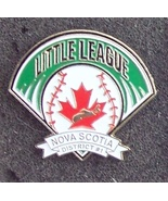 Nova Scotia Little League Baseball Lappel Pin Pinback - $7.00