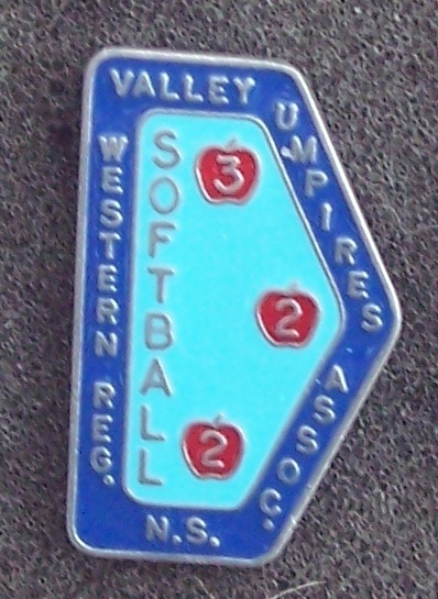 Valley Umpires Softball Western N.S. Lapel Pin Pinback