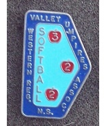 Valley Umpires Softball Western N.S. Lapel Pin Pinback - $4.00