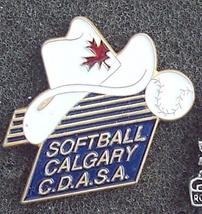 Calgary Alberta Softball Pin Pinback - $7.00