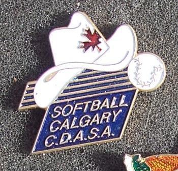 Calgary Alberta Softball Pin Pinback