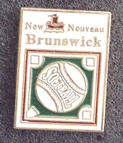 New Brunswick Softball Pin Pinback
